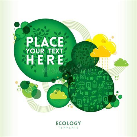 Shape Eco circle shape eco design layout royalty free stock photo