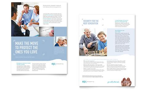 Estate Planning Brochure Template Design Estate Planning Templates