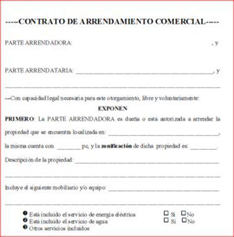 contrato de renta de casa en espanol gratis contrato de arrendamiento comercial espa 241 ol