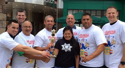 female hot dog eating contest winner chions crowned in the nevada hot dog eating contest