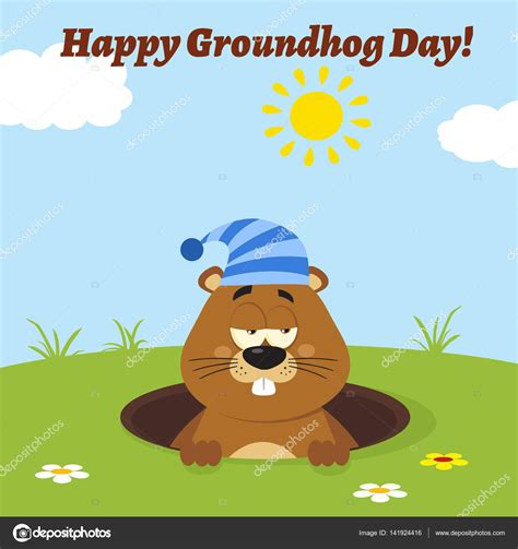 groundhog day vs happy day personnage de dessin anim 233 de marmotte image vectorielle