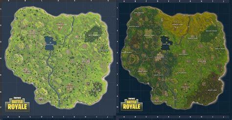 fortnite original map fortnite map vs new map where is the underground