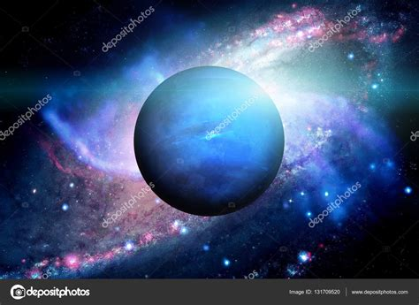 Planet Neptune by Planet Neptune Outer Space Background Stock Photo