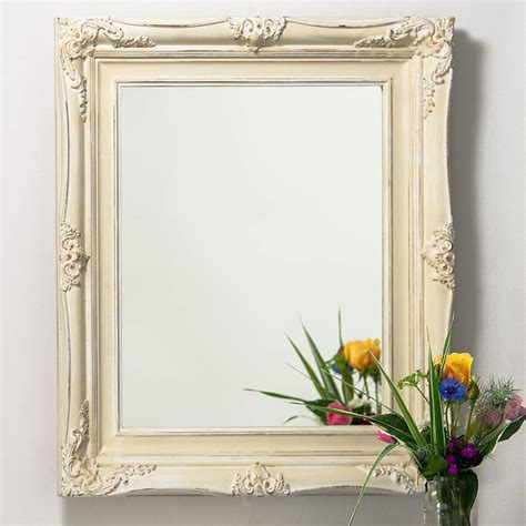 Handcrafted Mirrors - vintage ornate painted mirror by crafted mirrors