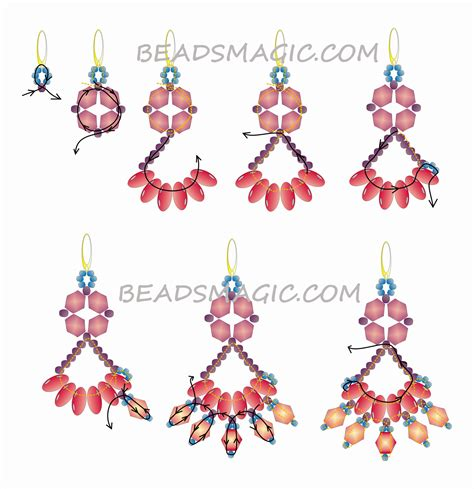beaded earrings patterns free free pattern for earrings crocus magic