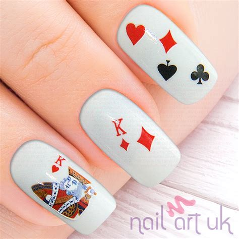 playing cards water decal nail stickers nail art uk