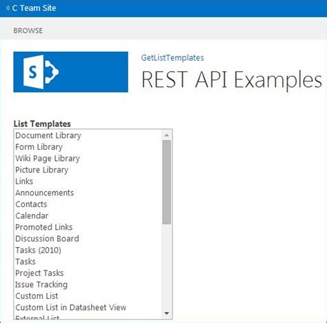 rest api template how to get all the list templates in sharepoint 2013