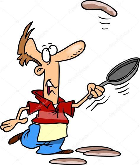 dessin animé de cuisine homme de dessin anim 233 cuisine cr 234 pes image vectorielle