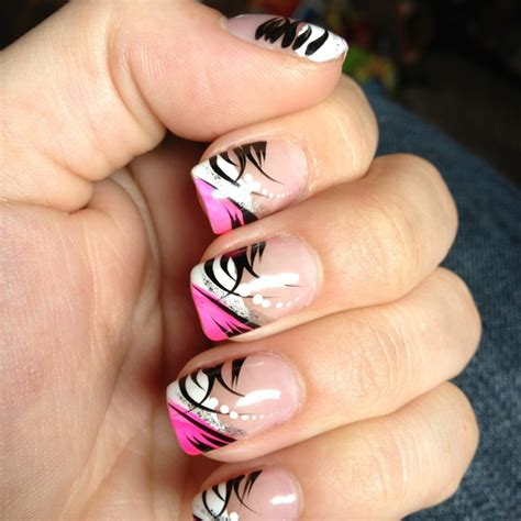 easy nail art pink and black pink black and white nail design perfectly polished