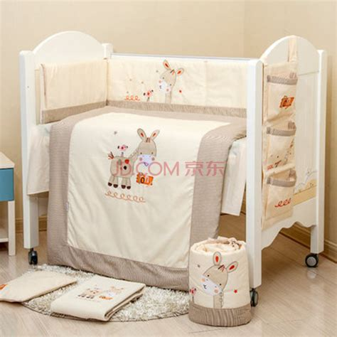 Aliexpress Com Buy 100 Cotton Embroidery Pony With Bird Story Crib Bedding Set