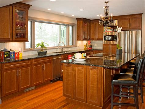 Natural Wood Kitchen Cabinets Outstanding Natural Cherry Wood Kitchen Cabinets According