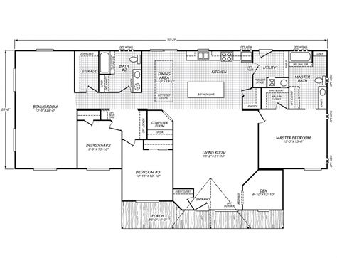 floor plans manufactured homes waverly crest 40703w fleetwood homes manufactured homes