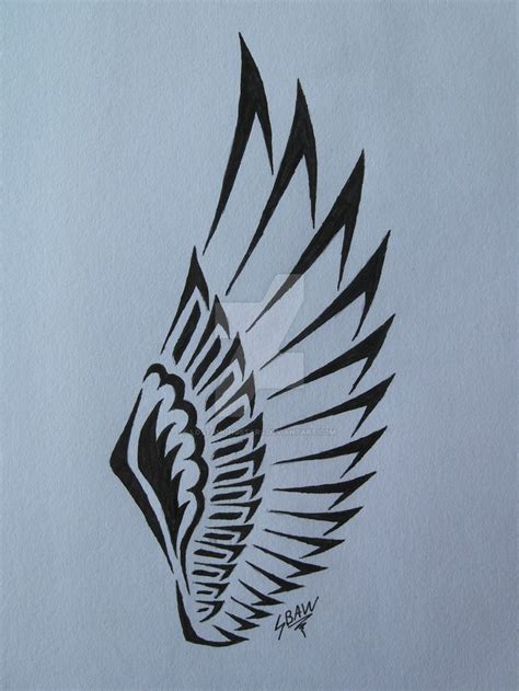 wing tribal tattoos tribal wings search tatts