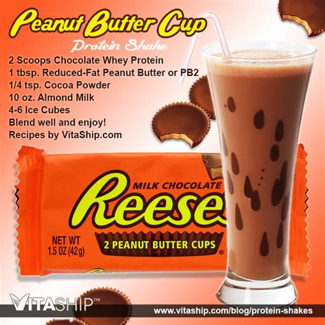 protein shake recipes peanut butter cup protein shake