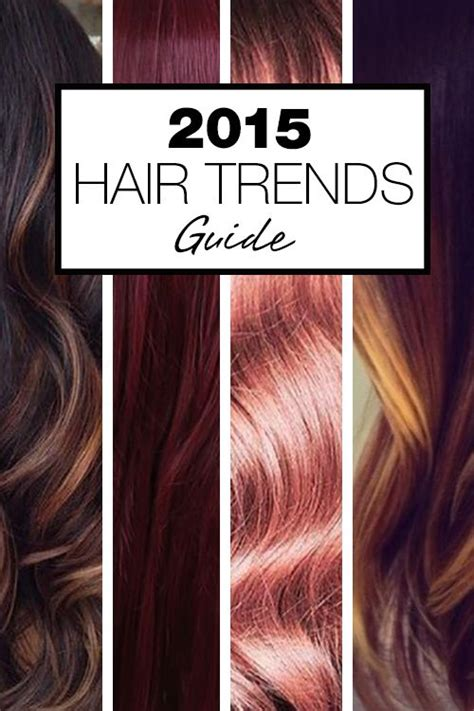 2015 hair colour trends wela pinterest