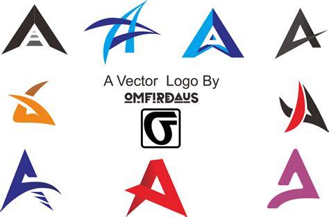 desain huruf cdr 13 inspirasi vector logo huruf a keren cdr ai psd
