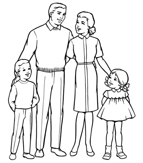 download coloring pages of a family