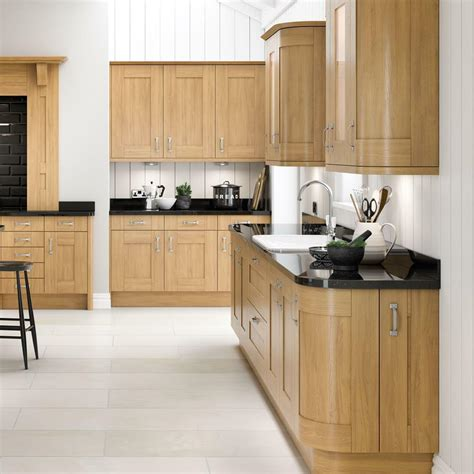 complete fitted kitchens oak shaker fitted kitchen units
