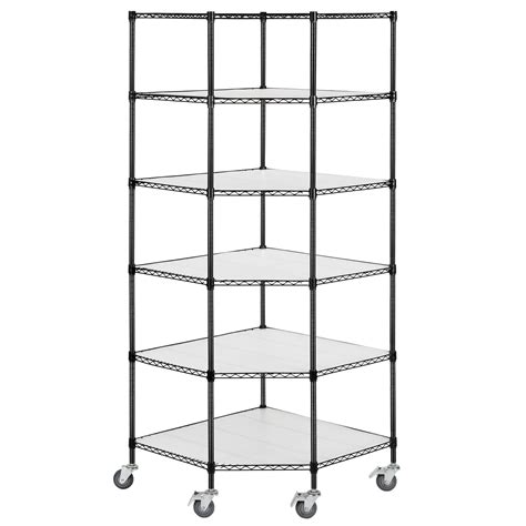 Adjustable 6 Tier Corner Unit Storage Steel Shelf Wire Wire Shelving Racks