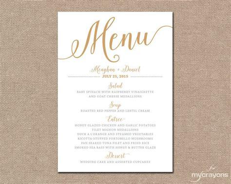 Menu Card Ideas For Wedding