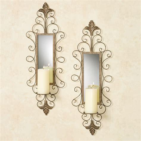 Mirrored Wall Sconce Jervissa Fleur De Lis Mirrored Wall Sconce Pair