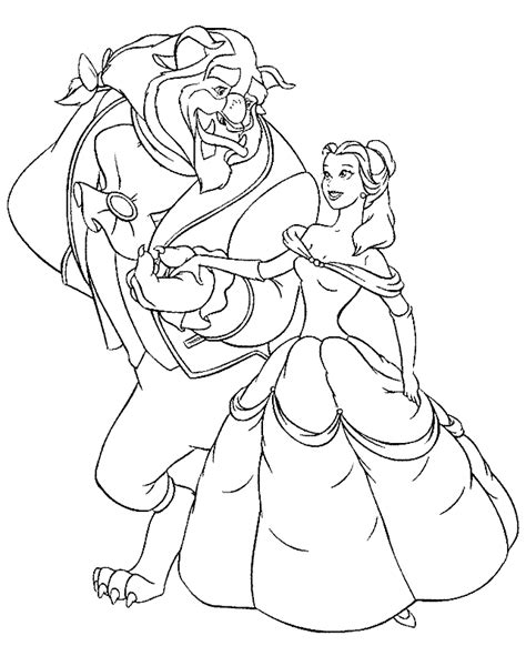 beauty and the beast dancing coloring pages beauty and the beast coloring pages bestofcoloring com