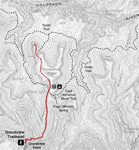 grand map trails the grandview trail grand 2000