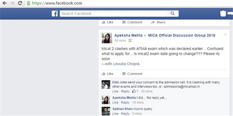 Atma Mba Date by Micat Ii Atma Irma Dates Clashes Students Confused