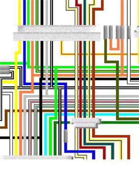 suzuki gs750 colour electrical wiring harness diagram