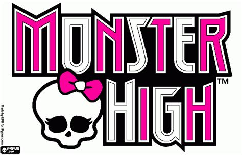 monster high logo coloring pages free coloring pages of monster high logos