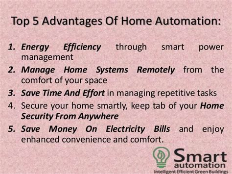 advantages of home automation home design