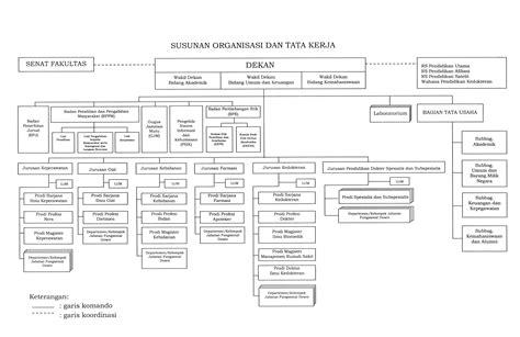 struktur organisasi dan desain kerja struktur organisasi fkub fakultas kedokteran