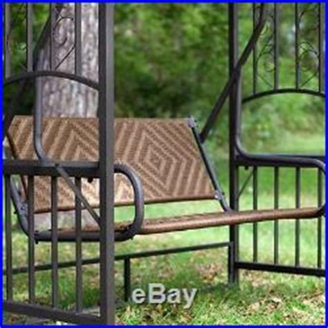 2016 england style rattan garden swing with canopy outdoor gazebo swing 2 person chair outdoor furniture canopy