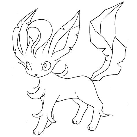 pokemon coloring pages of leafeon leafeon lineart by skylight1989 on deviantart