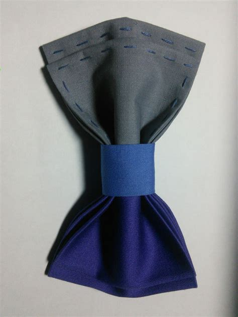 Handcrafted Bow Ties - s bow tie purple gray blue handcrafted bow by
