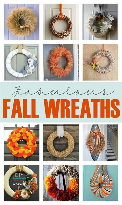 make your own fall decorations 12 diy fall wreaths fall wreaths wreaths and fall