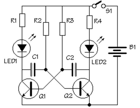 transistor q1 bc548 led with a transistor simple and inexpensive