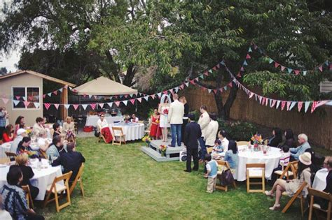 Backyard Bbq Reception Ideas Small Diy Backyard Wedding Noah S Americana Backyard Bbq Wedding Wedding
