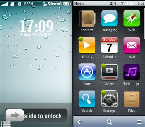 nokia 5233 iphone themes free download download free apps iphone 5 style theme for nokia 5800