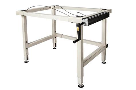 small adjustable work table 4 leg crank adjustable height work table ergosource