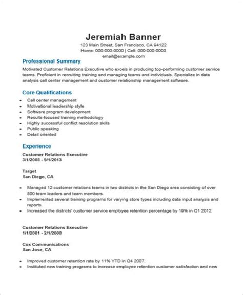 Relation Executive Resume by 35 Free Executive Resumes