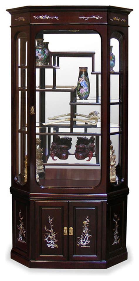 China Furniture and Arts   Rosewood Moon Shape Pearl