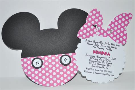 Minnie Mouse Baby Shower Invites by Minnie Mouse Invite Attach Bow To Invite Insert Minnie