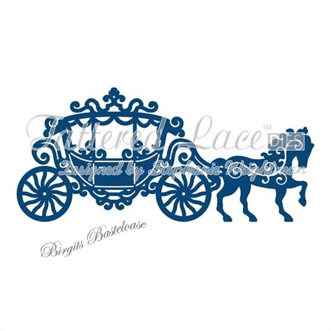 Kutsche Hochzeit by Tattered Lace Stanzschablone Carriage Hochzeit Kutsche