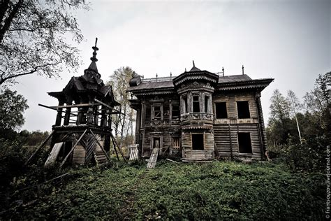 abandoned wooden house from the tale 183 russia travel