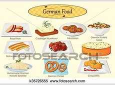 Clipart of Collection of delicious German food k35726555 ... Free Clip Art Meatball