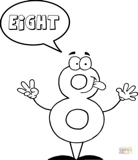 Number 8 Says Eight Coloring Page Free Printable Coloring Pages For 8 And Up