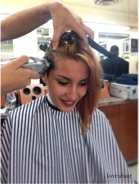 womens barber cuts girl in barbershop on flickr girl in barbershop buzz