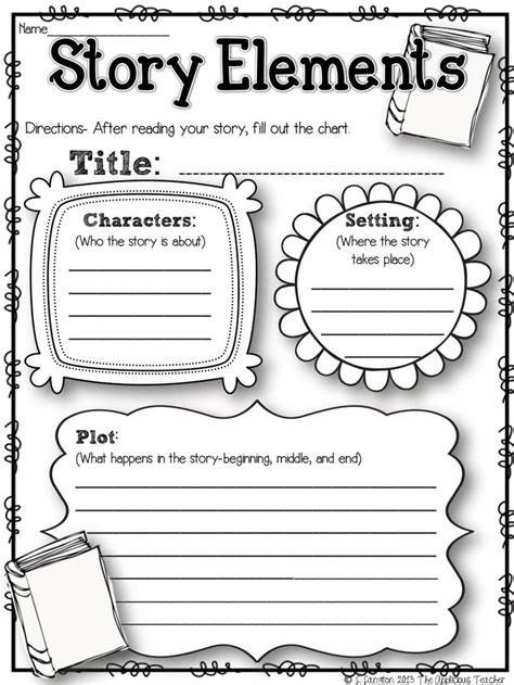 basic story map graphic organizer by michael morrell tpt
