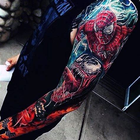 100 spiderman tattoo design ideas for men wild webs of ink